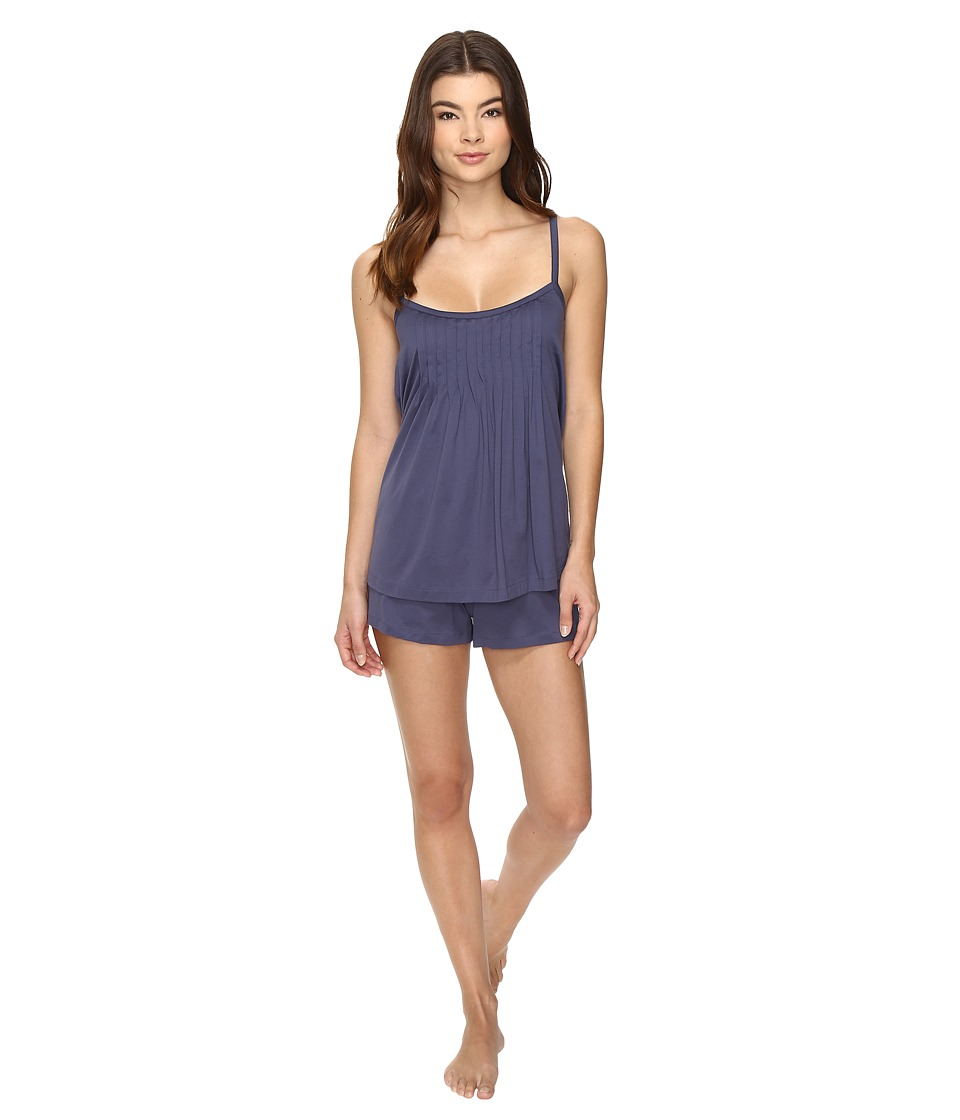 Hanro - Juliet Short Pajama (Cozy Blue) Women's Pajama Sets