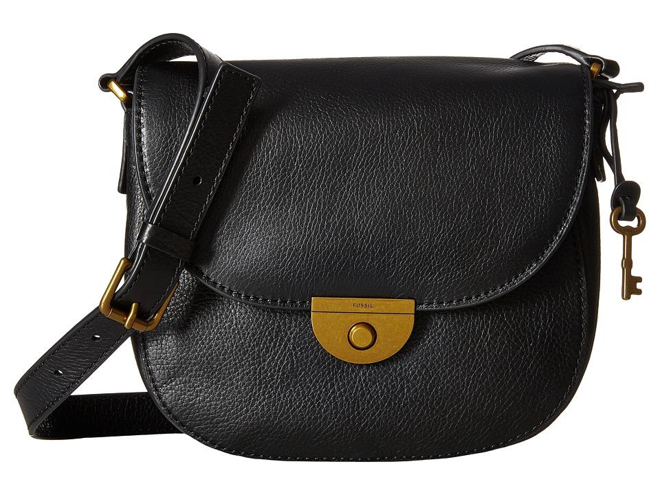 Fossil - Emi Saddle Bag (Black) Bags