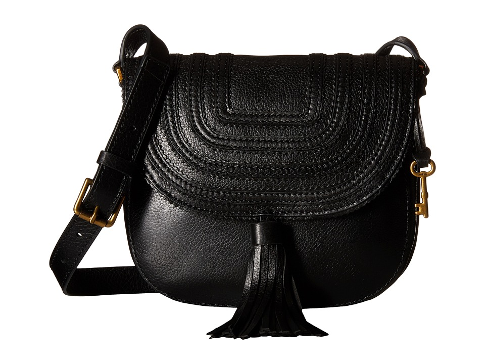 Fossil - Emi Tassel Saddle Bag (Black) Bags