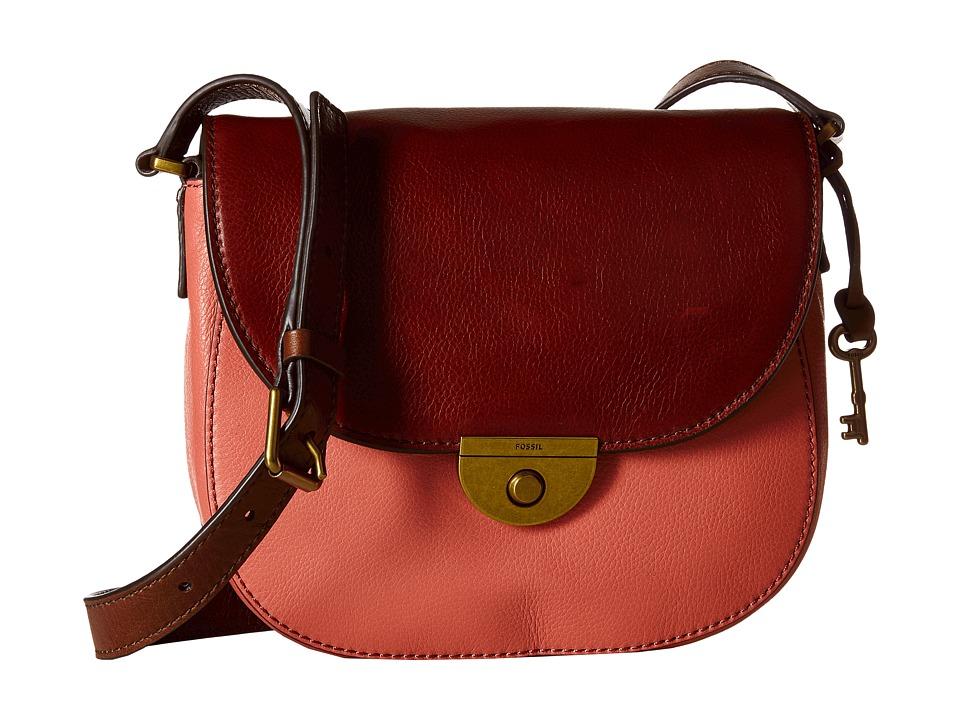 Fossil - Emi Saddle Bag (Rose) Bags