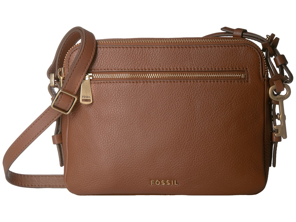 Fossil - Piper Toaster Crossbody (Brown) Cross Body Handbags