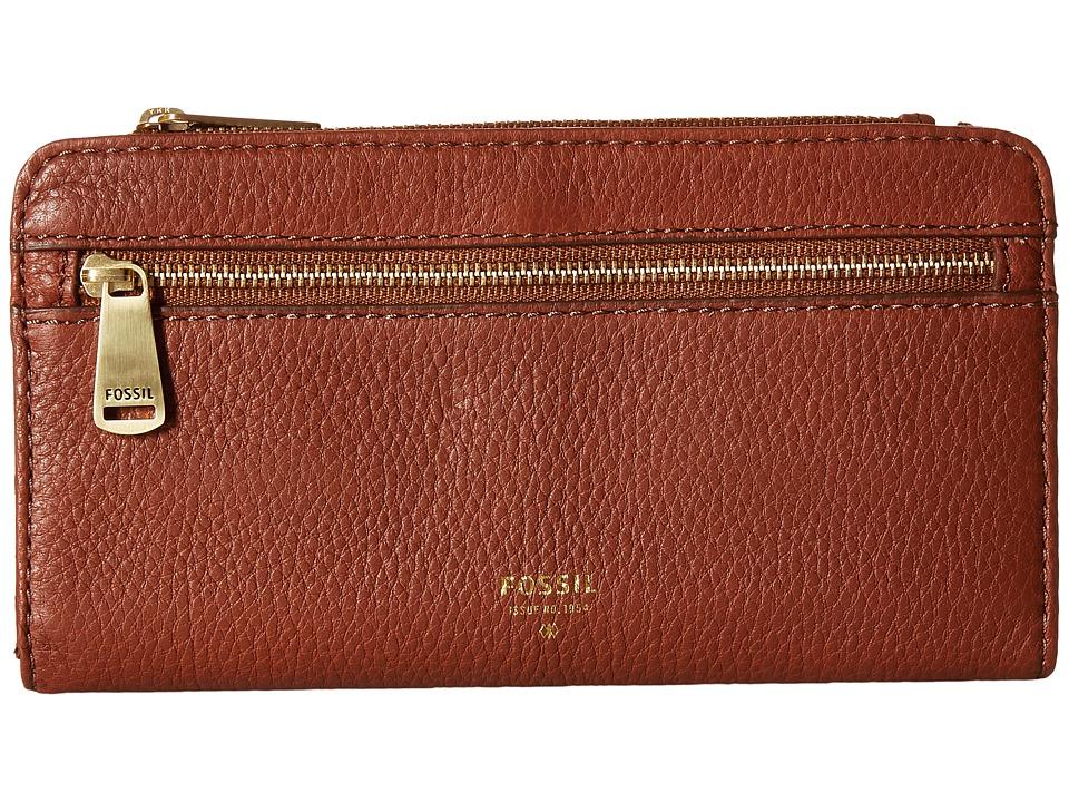 Fossil - Preston Clutch (Brown) Clutch Handbags