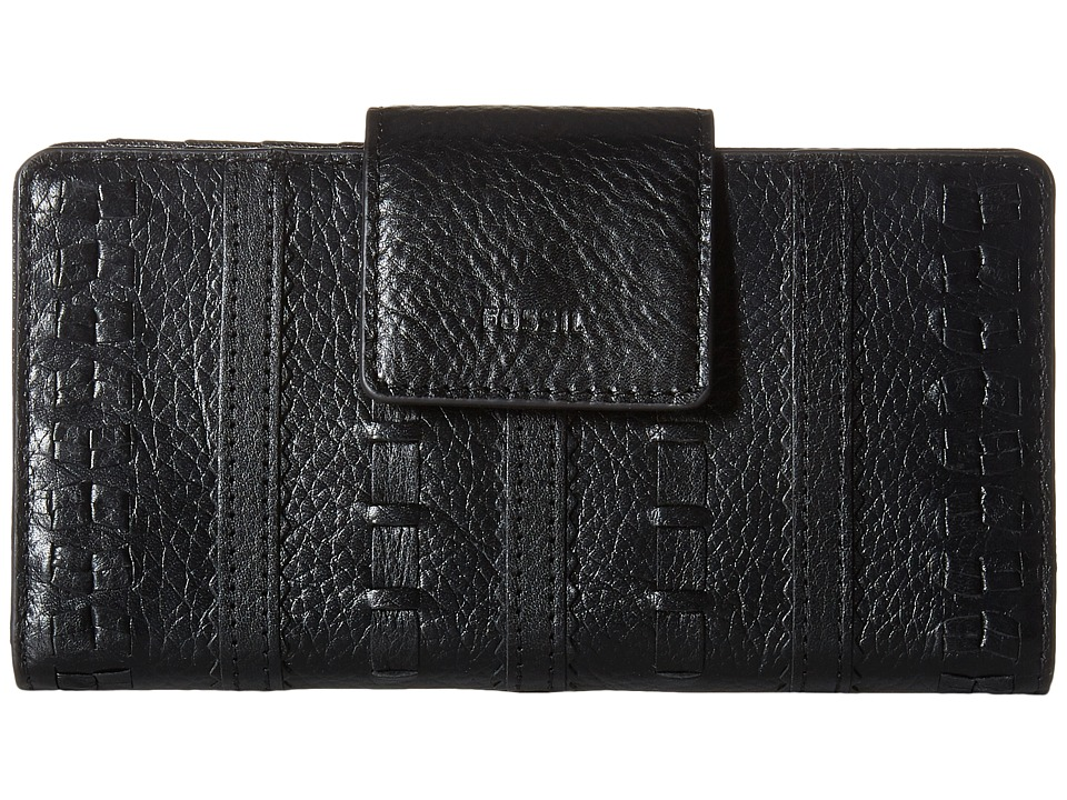 Fossil - Emma Tab Clutch Embellished RFID (Black) Clutch Handbags