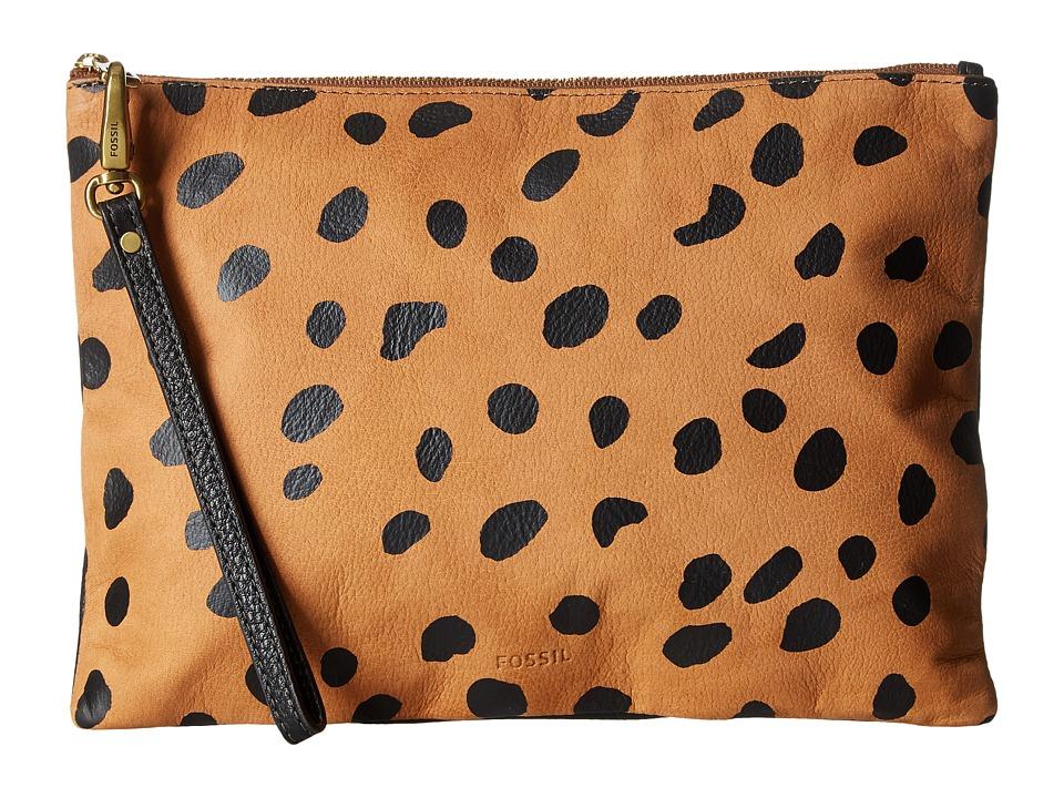 Fossil - Large Wristlet (Cheetah) Wristlet Handbags