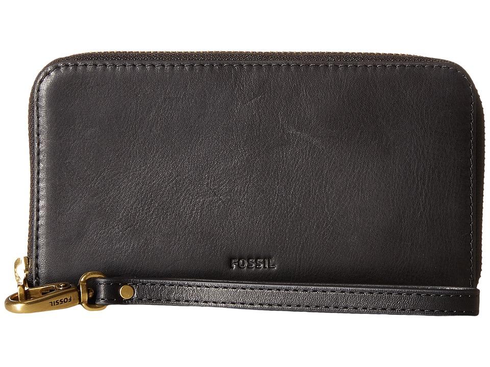 Fossil - Emma Smartphone Wristlet RFID (Black) Wristlet Handbags