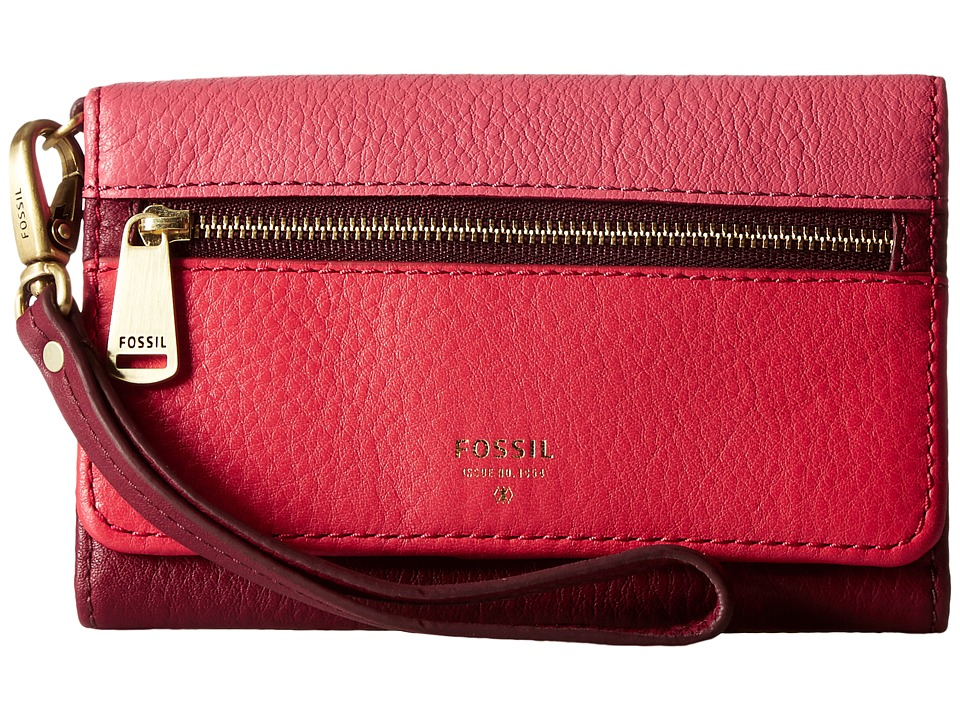 Fossil - Preston Phone Multifunction (Red Multi) Handbags