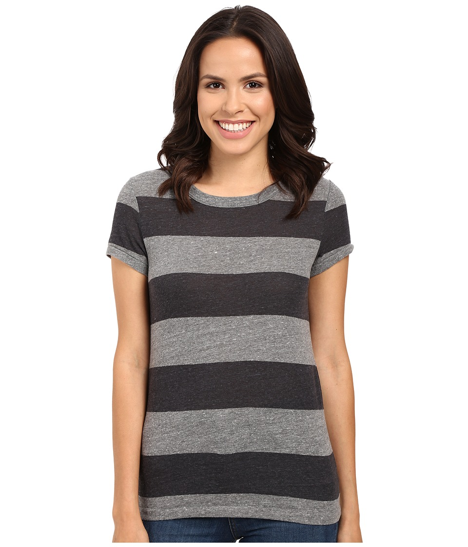 Alternative - Ideal Tee (Eco Grey/Iron Weathered Stripe) Women's T Shirt