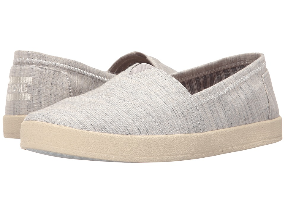 TOMS - Avalon (Light Grey Textured) Women's Shoes