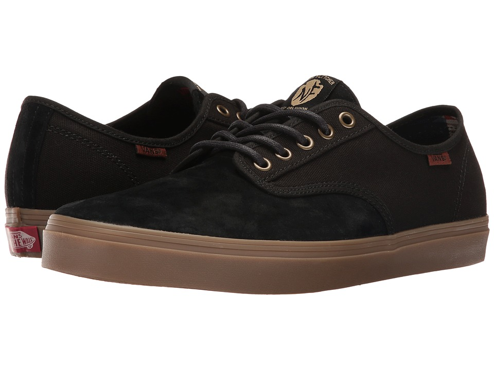Vans - Aldrich SF ((Nathan Fletcher) Black/Gum) Men's Shoes