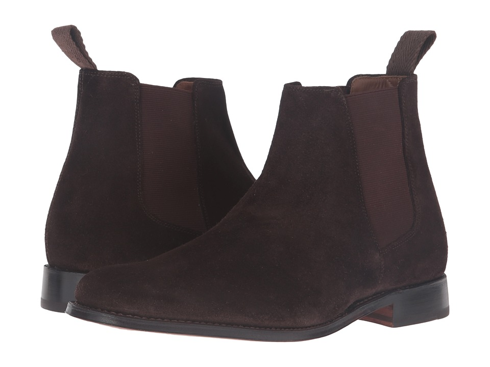 Grenson - Declan Suede Chelsea Boot (Chocolate) Men's Shoes