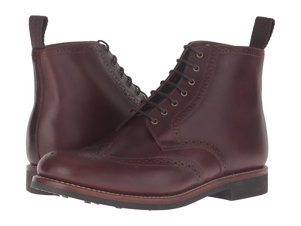 Grenson - Sharp Brogue Boot (Chestnut) Men's Shoes