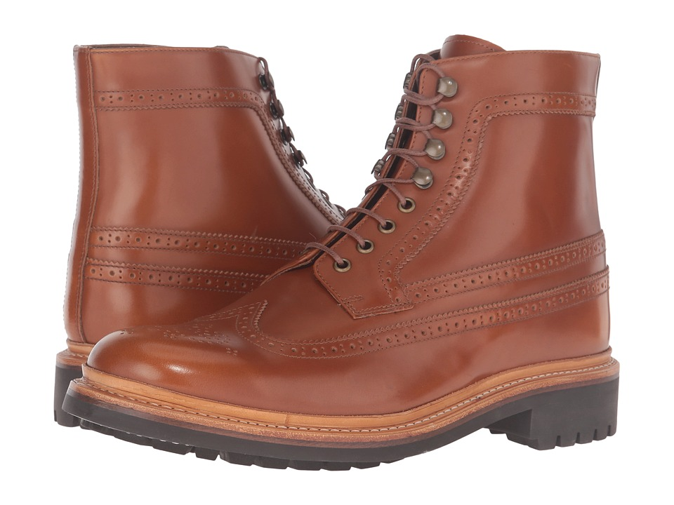 Grenson - Sebastian Brogue Boot (Amber Rub Off) Men's Shoes