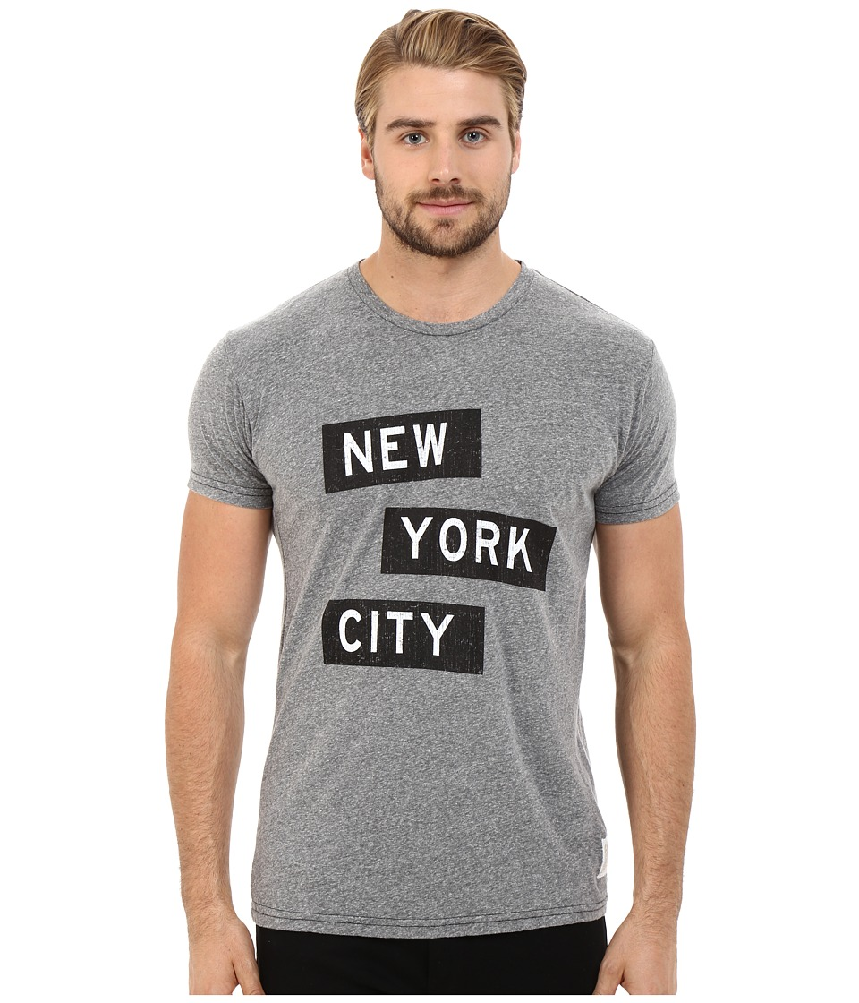 The Original Retro Brand - New York City Tri-Blend Short Sleeve Tee (Streaky Grey) Men's T Shirt