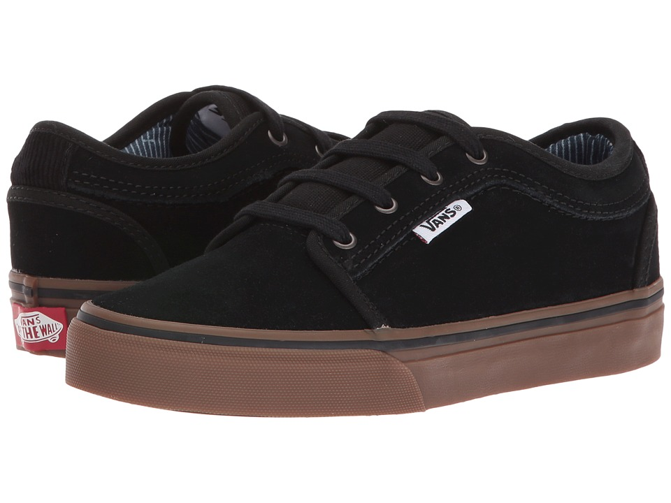 Vans Kids Chukka Low (Little Kid/Big Kid) ((Work Wear) Black/Gum) Boys Shoes