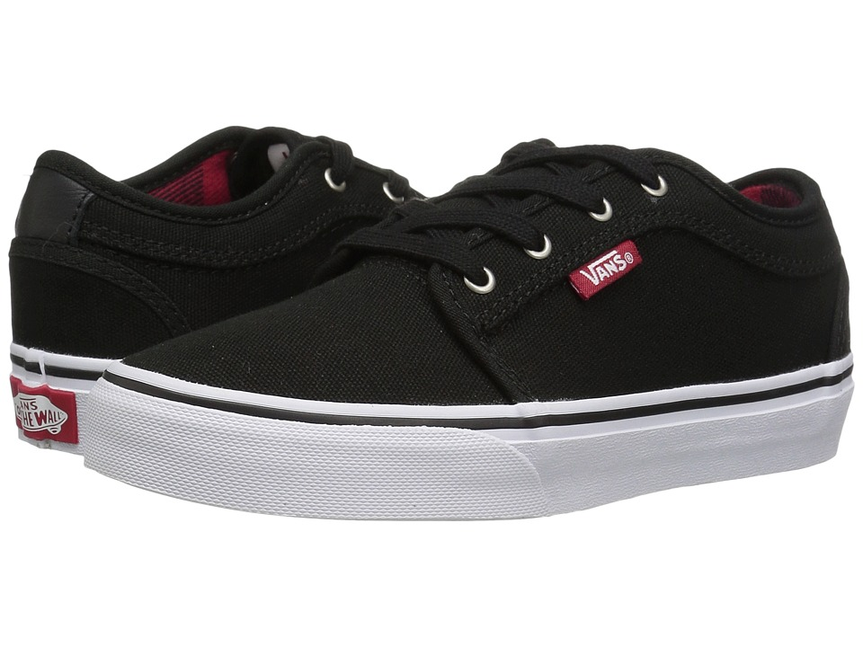 Vans Kids Chukka Low (Little Kid/Big Kid) ((Flannel) Black/Chili Pepper) Boys Shoes