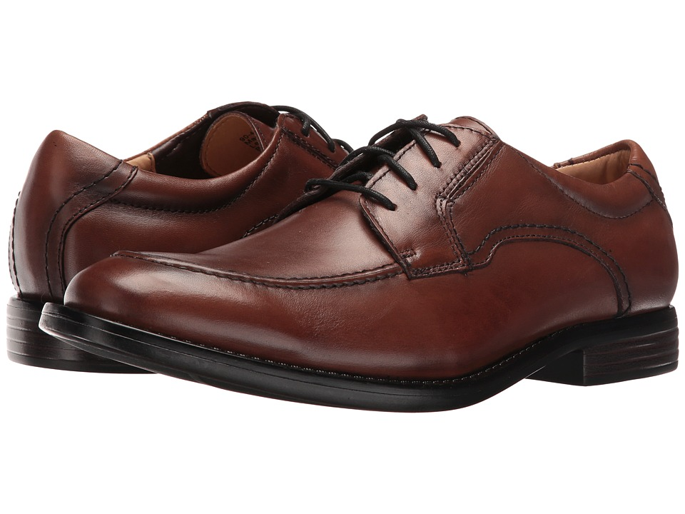 Dockers - Franklin (Dark Tan Burnished Full Grain) Men's Lace up casual Shoes