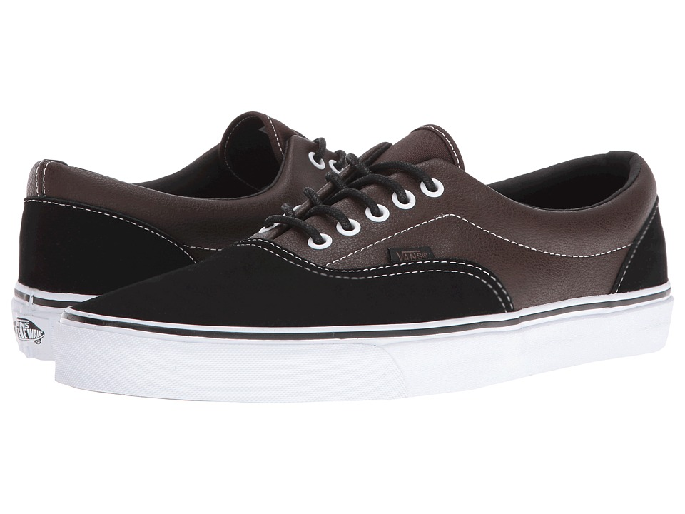 Vans - Era ((Suede & Leather) Demitasse/Black) Skate Shoes