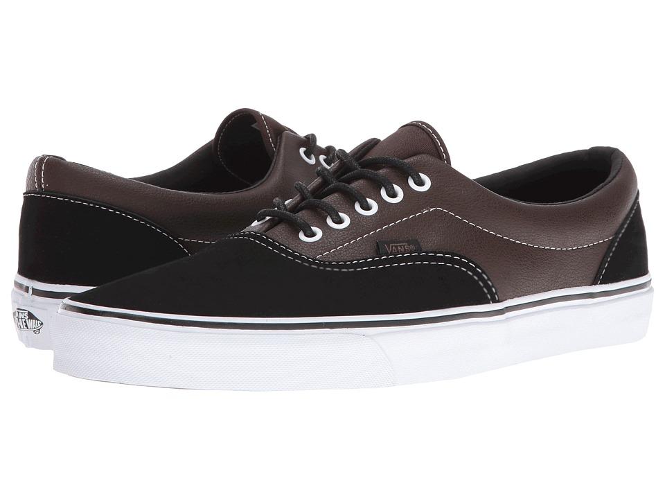 Vans - Era ((Suede & Leather) Demitasse/Black) Skate Shoes