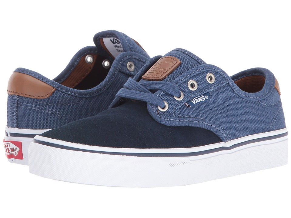 Vans Kids - Chima Ferguson Pro (Little Kid/Big Kid) ((Two-Tone) Dress Blues/Ensign Blue) Boys Shoes