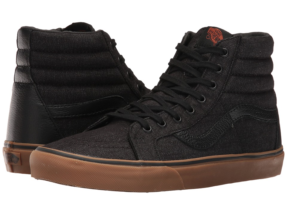 Vans - SK8-Hi Reissue ((Denim C&L) Black/Gum) Skate Shoes