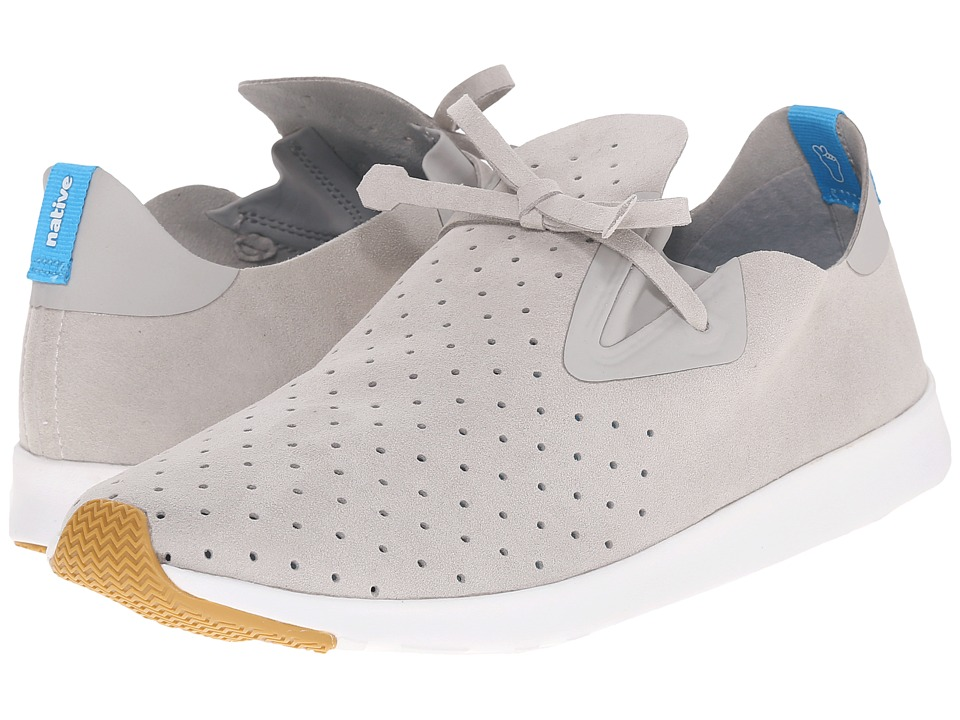 Native Shoes - Apollo Moc (Pigeon Grey/Shell White/Natural Rubber) Shoes