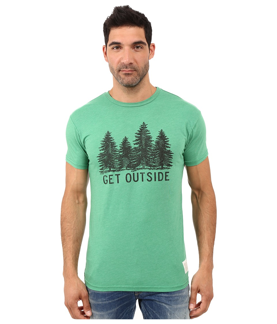 The Original Retro Brand - Get Outside Short Sleeve Heather Tee (Heather Sprite) Men's T Shirt