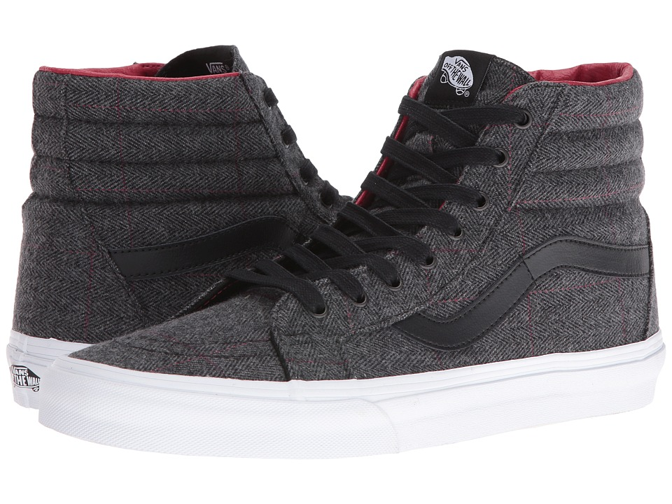 Vans - SK8-Hi Reissue ((Tweed) Black/True White) Skate Shoes