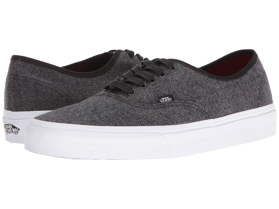 Vans - Authentic ((Tweed) Black/True White) Skate Shoes