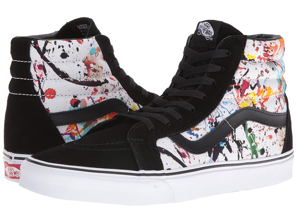 Vans - SK8-Hi Reissue ((Paint Splatter) Multi/True White) Skate Shoes