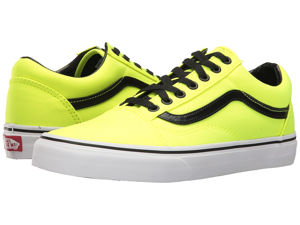 Vans - Old Skool ((Brite) Neon Yellow/Black) Skate Shoes