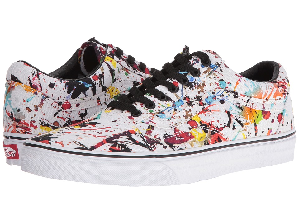 Vans - Old Skool ((Paint Splatter) Multi/True White) Skate Shoes