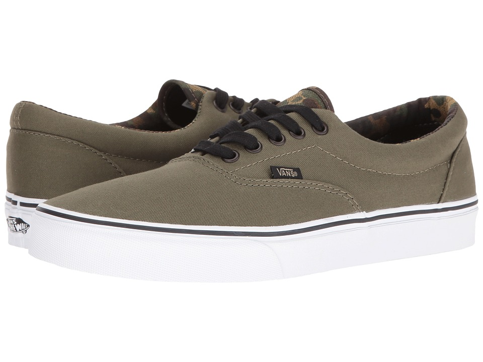 Vans - Era ((Vintage Camo) Ivy Green/Black) Skate Shoes