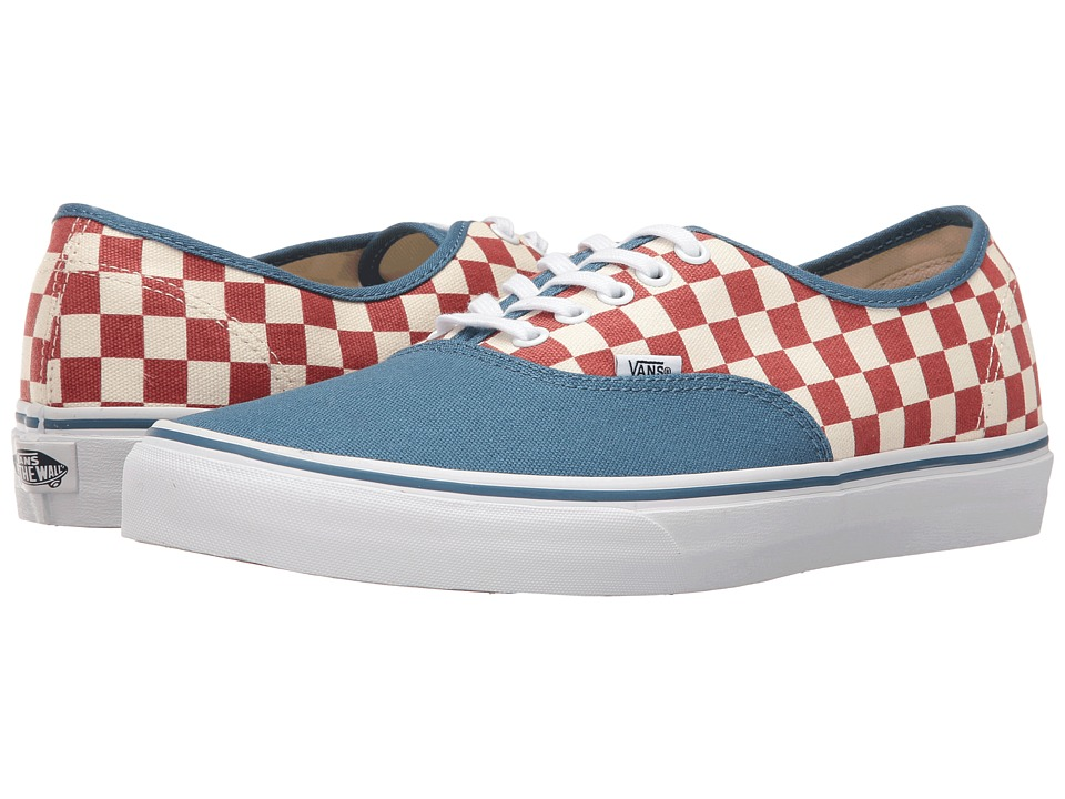 Vans - Authentic ((50th) Checkerboard/Blue Ashes) Skate Shoes