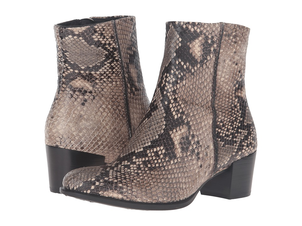 ECCO - Shape 35 Snake Print Ankle Boot (Sand) Women's Boots