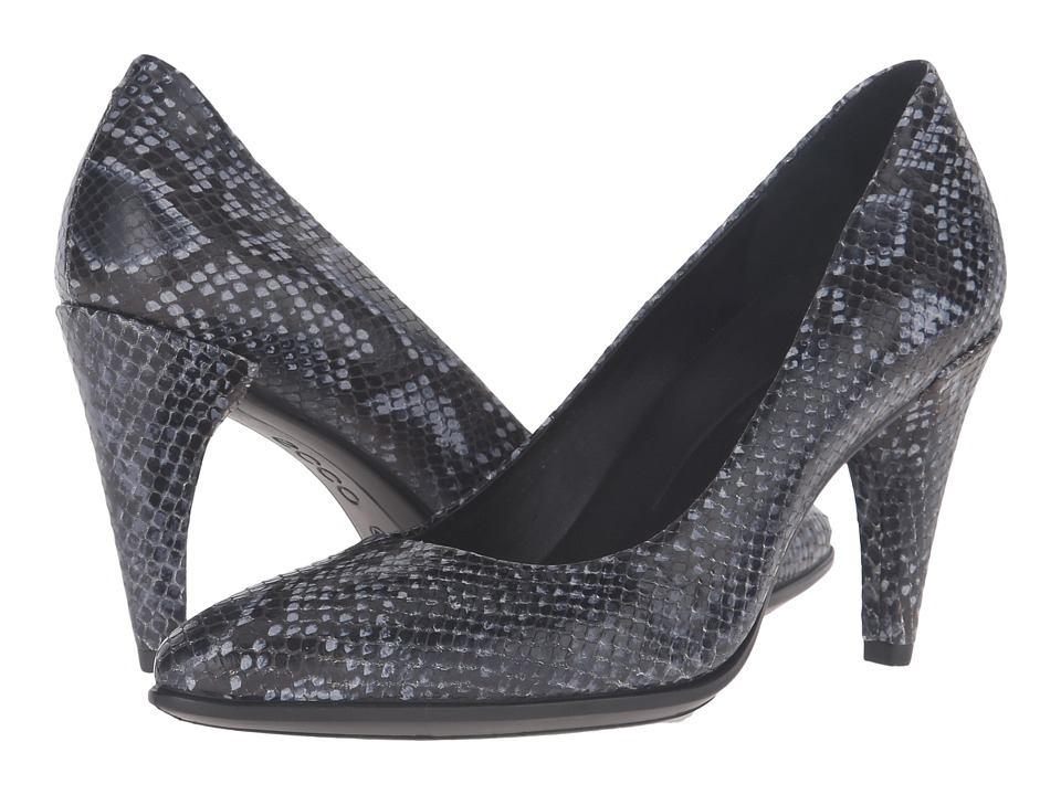 ECCO - Shape 75 Pointy Pump (True Navy) High Heels