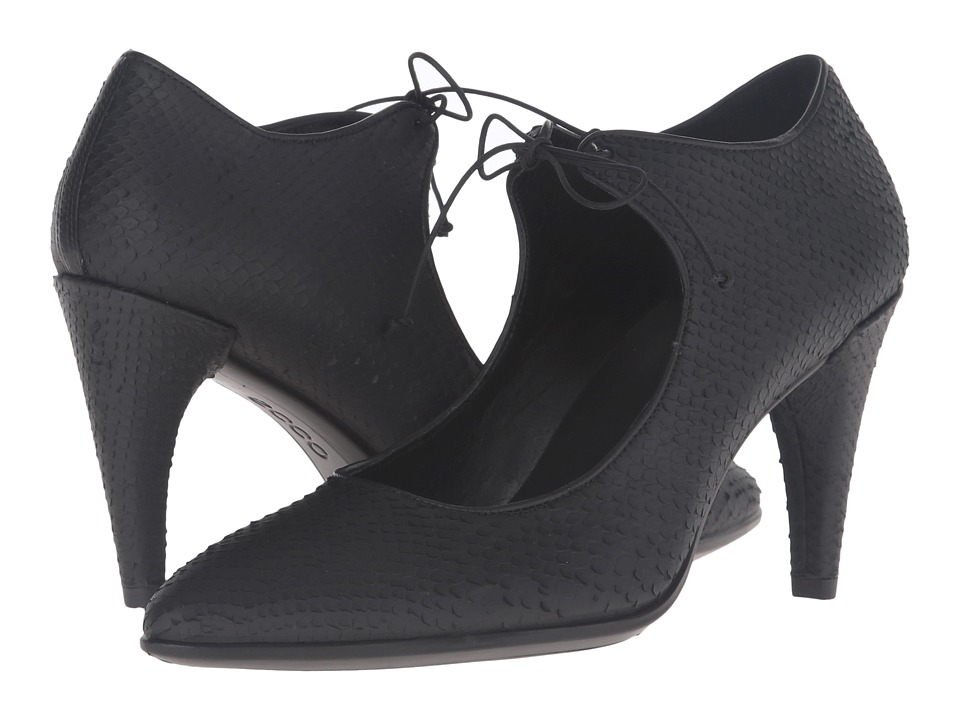ECCO - Shape 75 Pointy Lace MJ (Black) High Heels