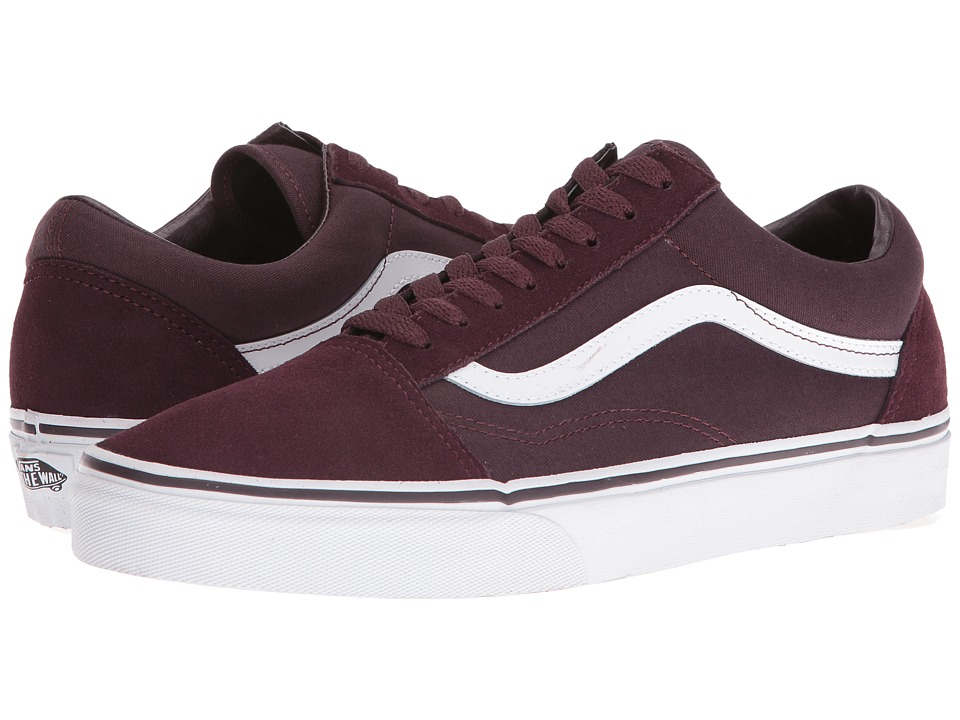 Vans - Old Skool ((Suede/Canvas) Iron Brown/True White) Skate Shoes