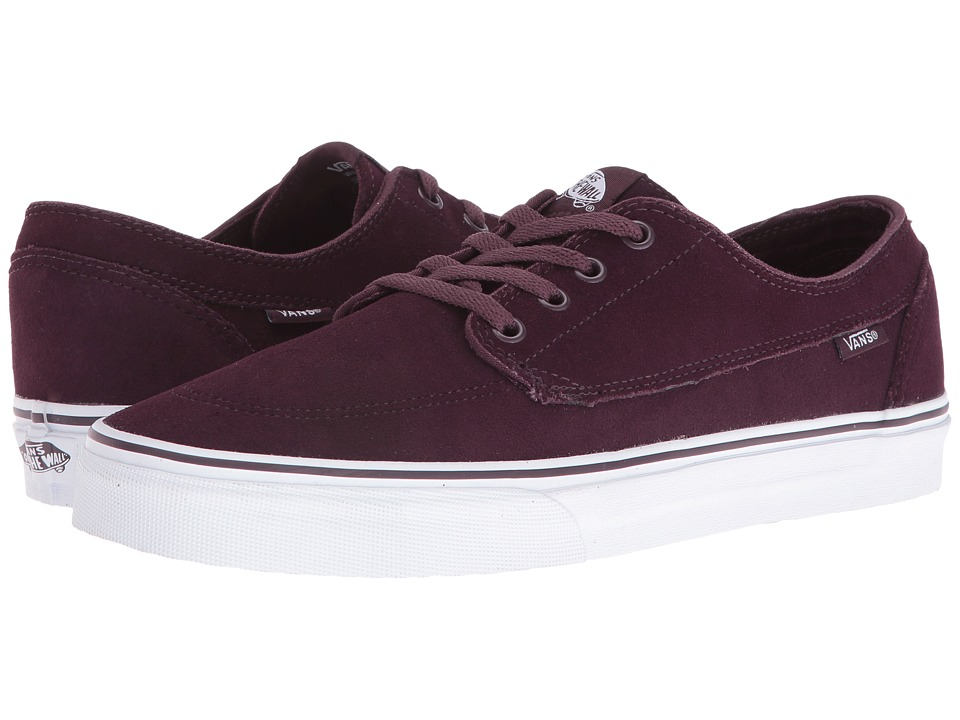 Vans - Brigata ((Suede) Iron Brown/True White) Skate Shoes