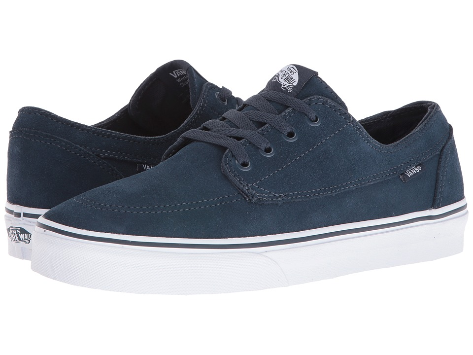 Vans Brigata ((Suede) Teal/True White) Skate Shoes