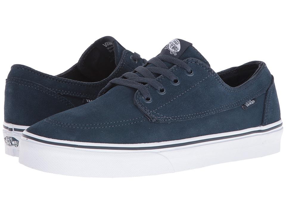 Vans - Brigata ((Suede) Teal/True White) Skate Shoes