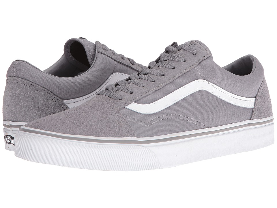 Vans - Old Skool ((Suede/Canvas) Frost Gray/True White) Skate Shoes
