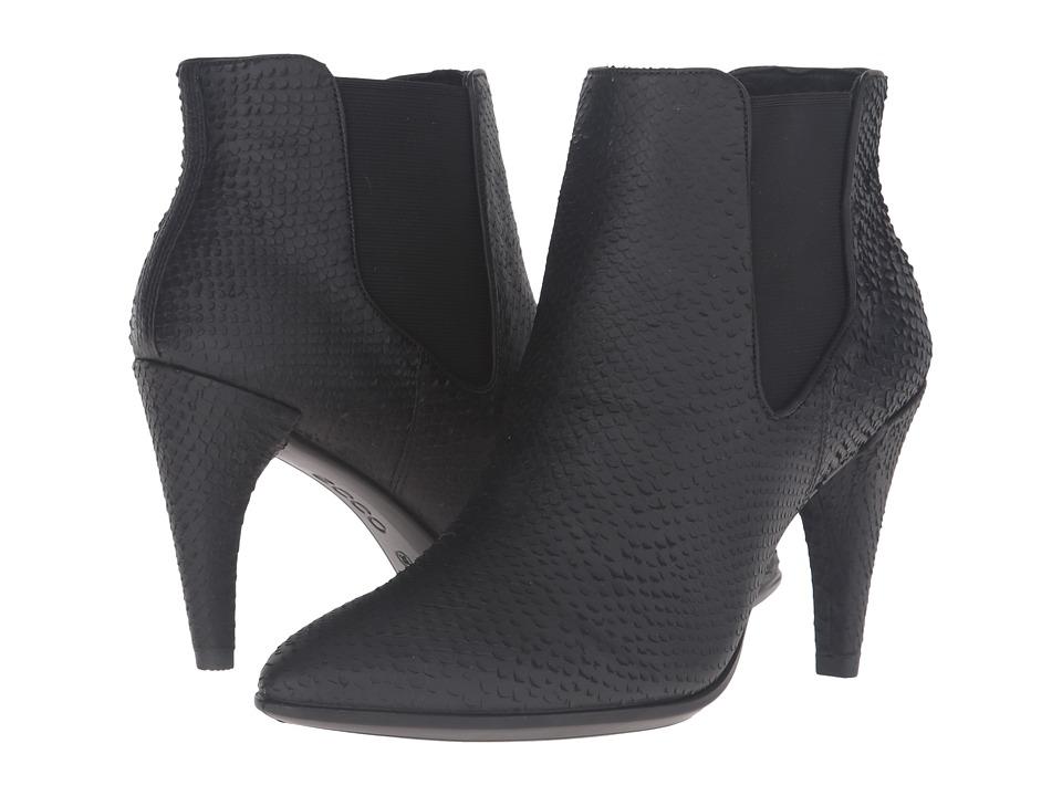 ECCO - Shape 75 Pointy Chelsea (Black) High Heels