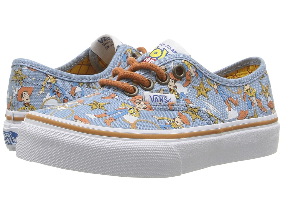 Vans Kids Authentic Toy Story (Little Kid/Big Kid) ((Toy Story) Woody/True White) Boys Shoes