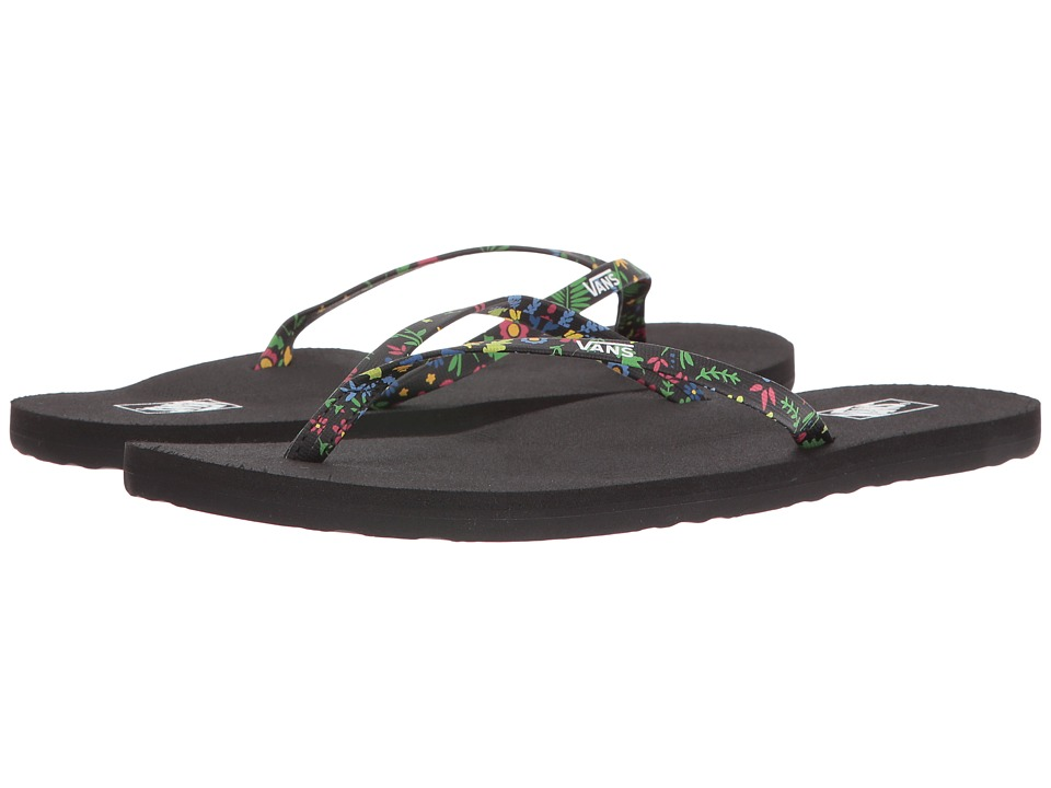 Vans - Malta ((Flora) Black) Women's Sandals