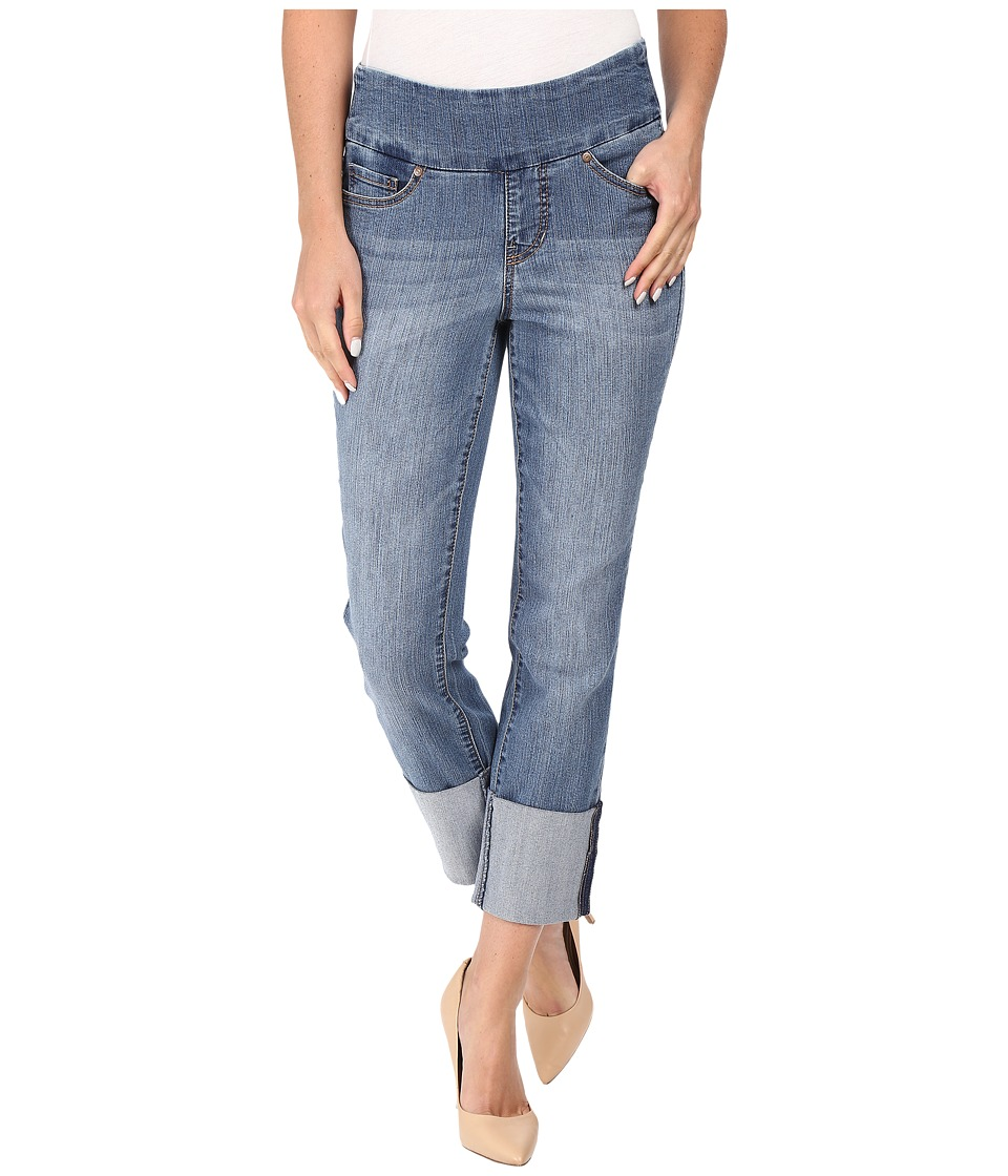 Jag Jeans - Lewis Pull-On Straight Cuffed Comfort Denim in Weathered Blue (Weathered Blue) Women's Jeans