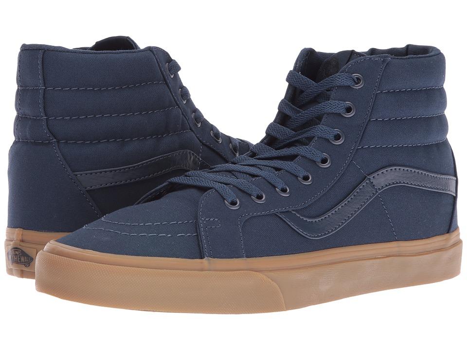 Vans - SK8-Hi Reissue ((Canvas Gum) Dress Blues/Light Gum) Skate Shoes
