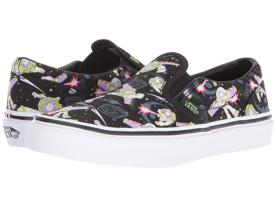 Vans Kids Classic Slip-On Toy Story (Little Kid/Big Kid) ((Toy Story) Buzz Lightyear/True White) Boys Shoes