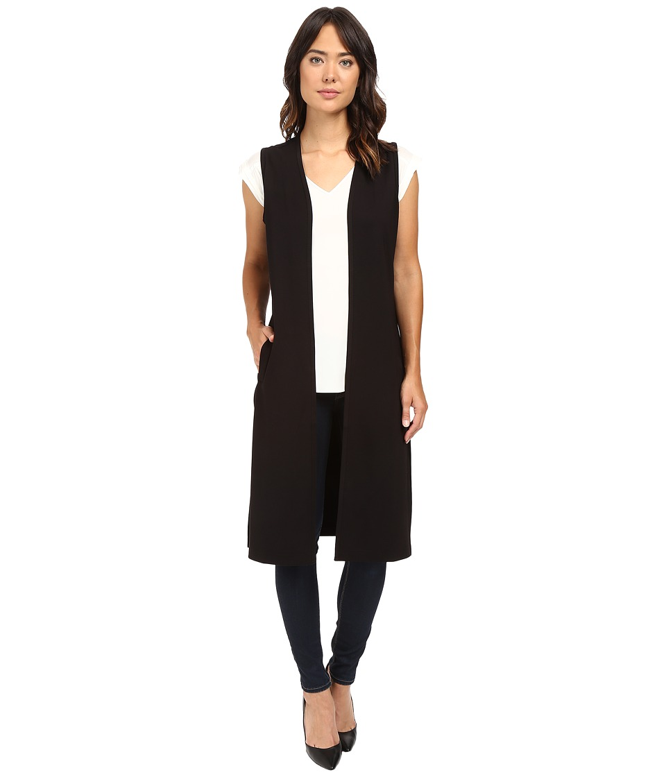 Jag Jeans - Oxford Sleeveless Duster Double Knite Ponte (Black) Women's Sleeveless