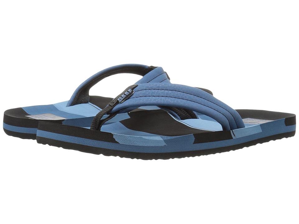 Reef Kids - Ahi (Infant/Toddler/Little Kid/Big Kid) (Blue Multi Lines) Boys Shoes
