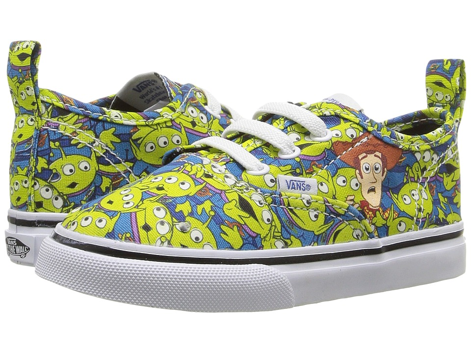 Vans Kids Authentic V Lace Toy Story (Toddler) ((Toy Story) Aliens/True White) Boys Shoes